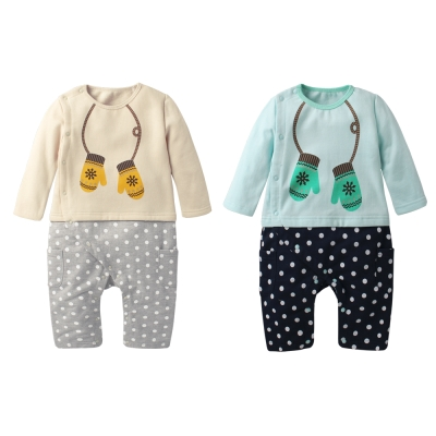 baby童衣 圓領假兩件五分袖連身爬服 64002