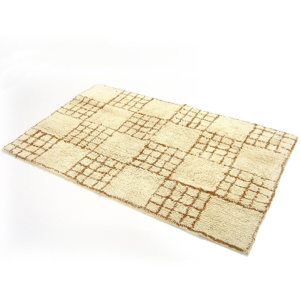 布安於室-方矩純棉厚實大踏墊-棕色