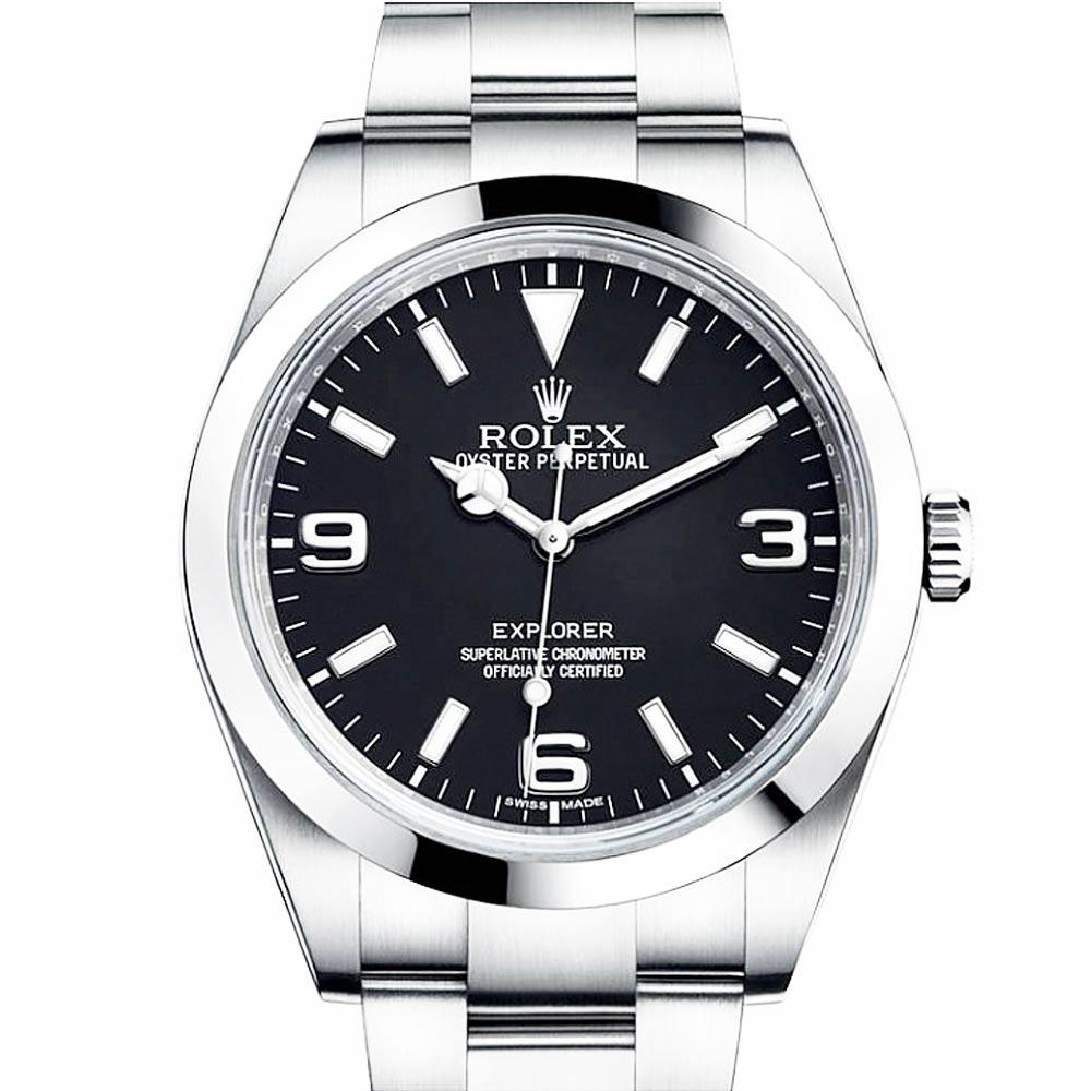 ROLEX 勞力士 214270 New Explorer 新探險家系列腕錶-黑/39mm