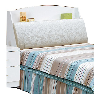 品家居 克萊拉3.5尺皮革單人床頭箱-106.5x34x101cm免組
