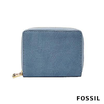FOSSIL MINI WALLET 多功能拉鍊皮夾 短夾-蜥蜴壓紋