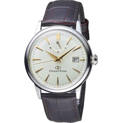 ORIENT STAR 東方之星 CLASSIC系列 經典動力儲存機械錶-咖啡色/38mm