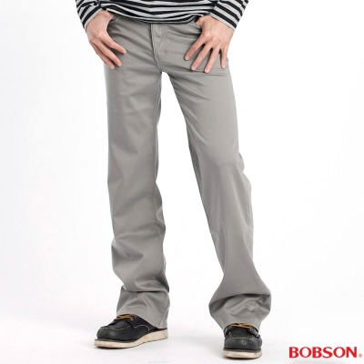BOBSON 男款植絨貼合布保暖直筒褲