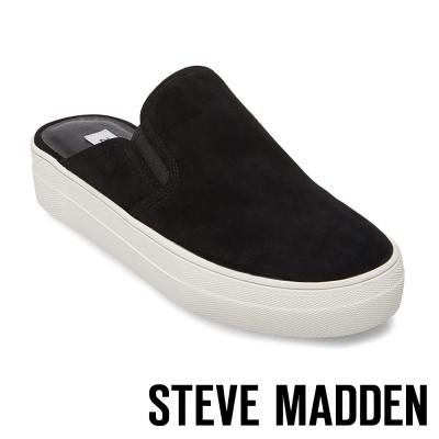 STEVE MADDEN-GLENDA-BLACK 厚底素面穆勒鞋-黑色