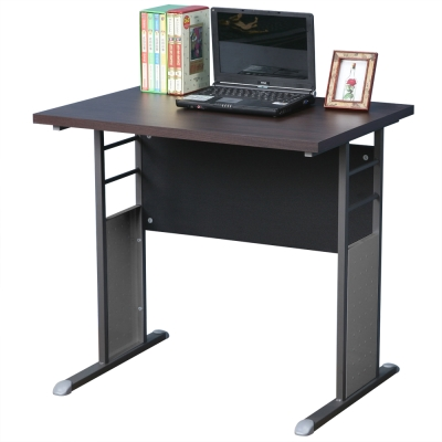 Homelike 巧思辦公桌 炫灰系列-胡桃加厚桌面80cm