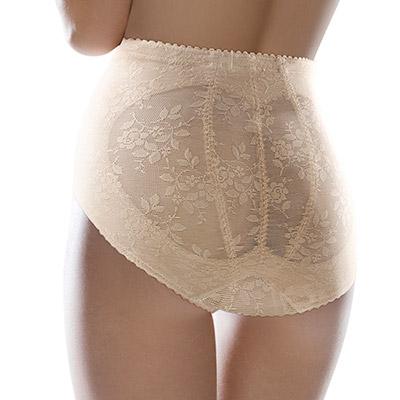 黛安芬-曲線美体衣-涼爽棉系列-短版美体褲-M-EEL-裸膚色