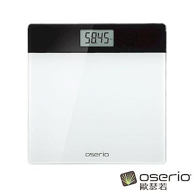 oserio歐瑟若 數位體重計  (白黑BAG-282)