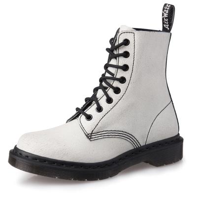 Dr.Martens PASCAL-爆裂紋真皮馬汀靴-女款-白