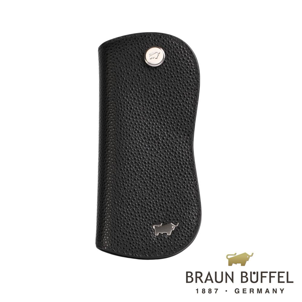 BRAUN BUFFEL - HOMME-B紳士系列單鎖鑰匙包 - 黑色