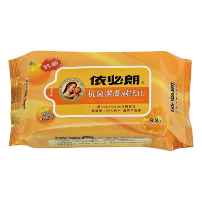 依必朗抗菌潔膚濕紙巾-清爽柑橘香(88抽)x12包