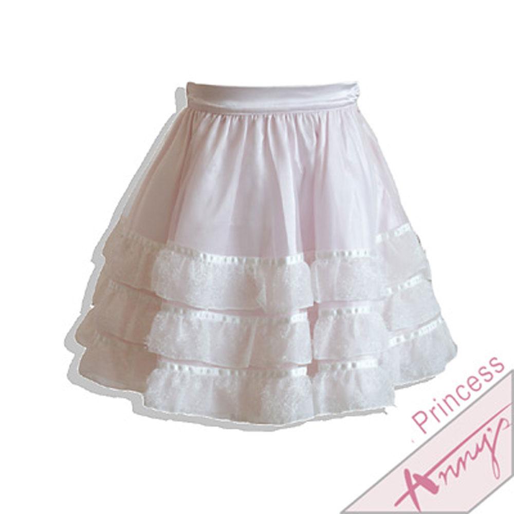 毛絨雪紡蛋糕網紗短裙*1116粉