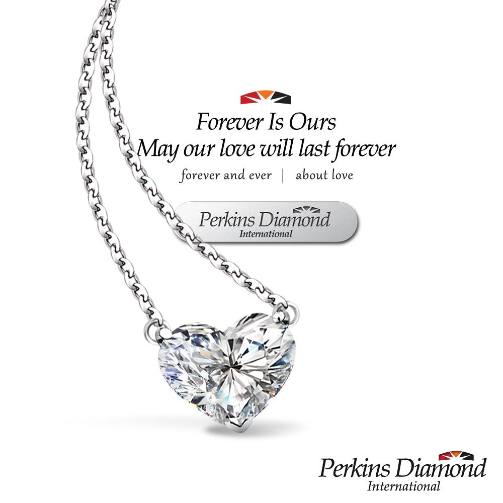 PERKINS 伯金仕 - GIA 1.00克拉 Heart Cut 心形鑽石項鍊