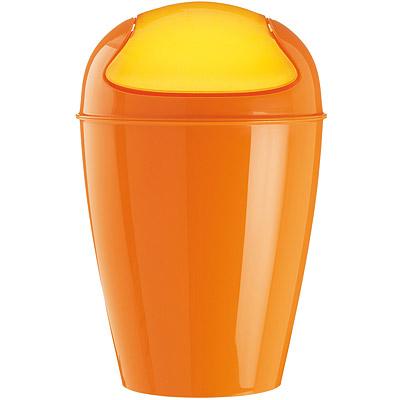 KOZIOL Del搖擺蓋垃圾桶(橘S)
