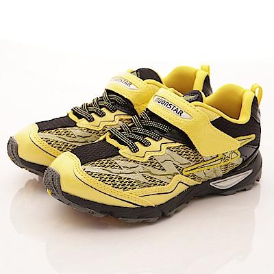 日本月星頂級童鞋-閃電競速運動款-SE893黃(中大童段)T2