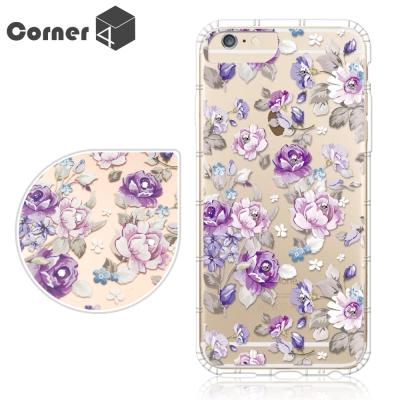 Corner4 iPhone6s / 6 PLUS 5.5吋 奧地利彩鑽防摔手機殼-紫薔薇