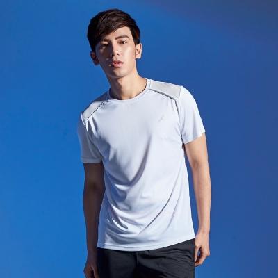 【AIRWALK】反光條設計吸排圓領T恤-白