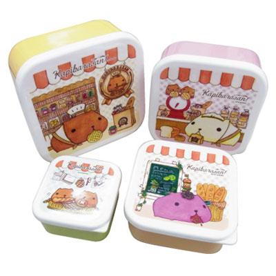 Kapibarasan 水豚君法國麵包系列多層餐盒-方型