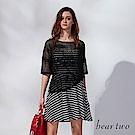 beartwo 優雅縷空勾針蕾絲兩件式洋裝(二色)