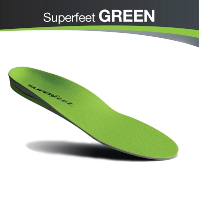 【美國SUPERfeet】健康慢跑多用途抑菌足弓鞋墊-綠色