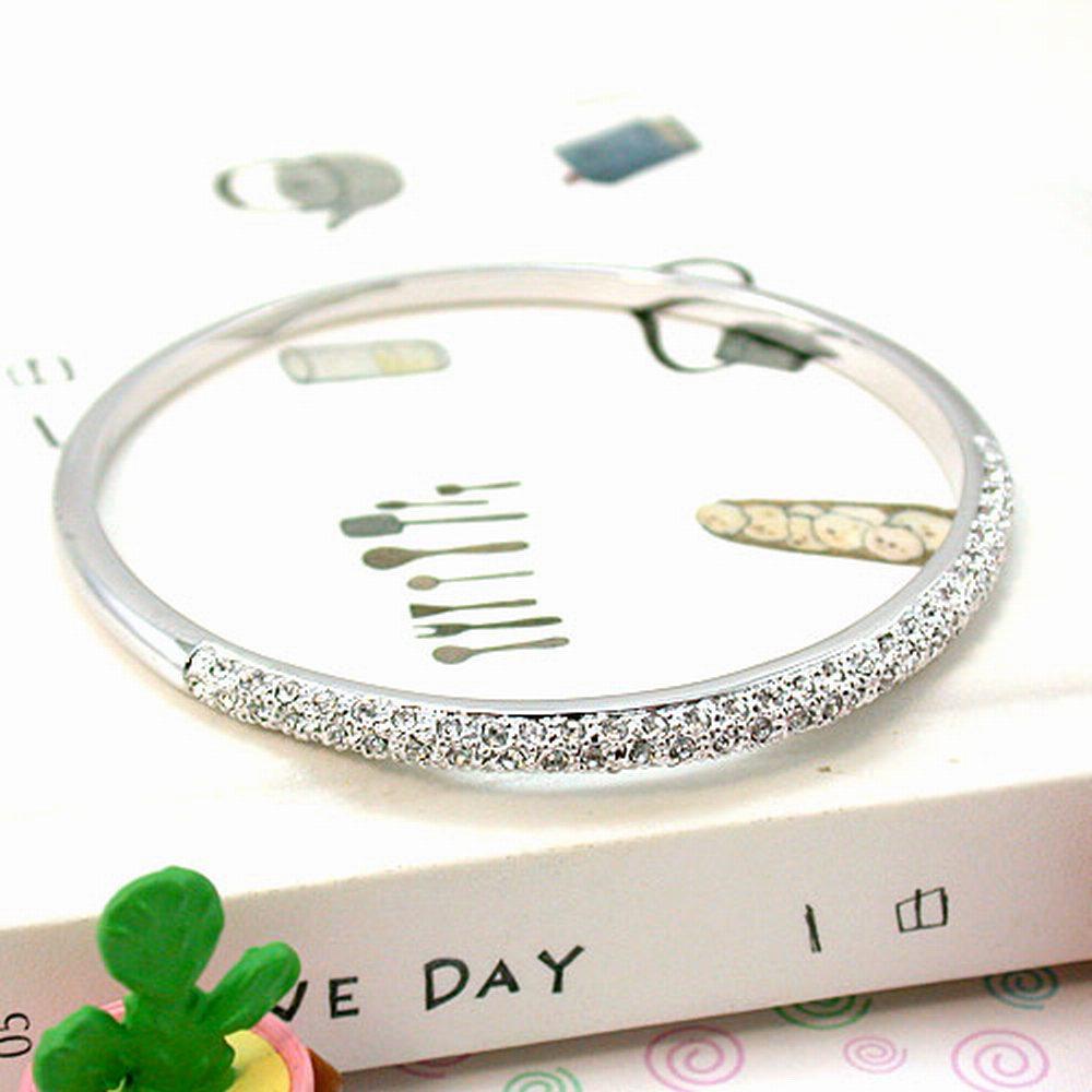 伊飾晶漾iSCrystal 銀牙晶燦 簡約風格手環