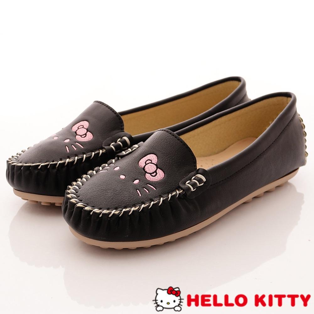 HelloKitty童鞋 休閒豆豆娃娃鞋款 SE18629黑(大童親子段)