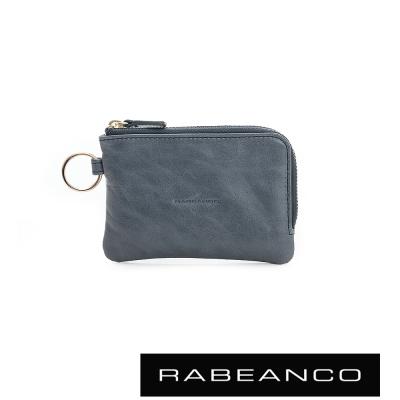 RABEANCO-經典小牛皮萬用鑰匙零錢包-深藍