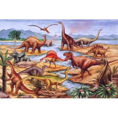 美國瑪莉莎 Melissa & Doug 大型地板拼圖 - 恐龍【48 片】