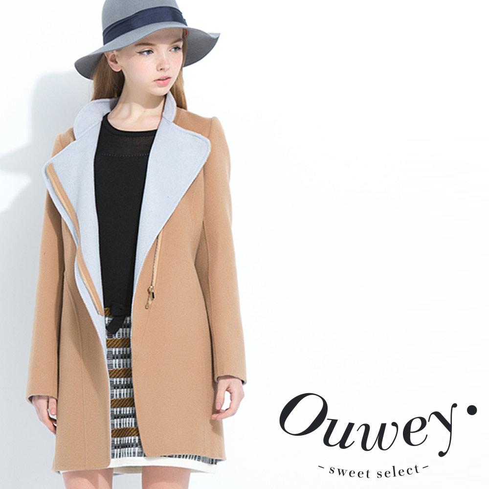 OUWEY歐薇手工雙面料毛料外套共2色
