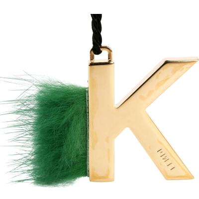 FENDI Abclick K 貂毛飾鑰匙圈/吊飾(綠色)