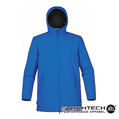 【加拿大STORMTECH】SPK-1防撥水細刷毛長版機能外套-男-藍