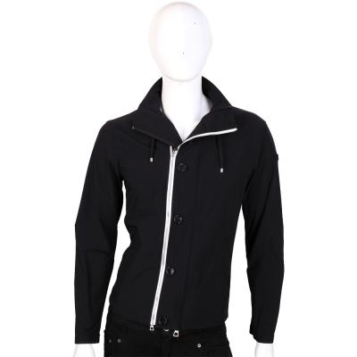 EMPORIO ARMANI JEANS 白色拉鍊設計外套(黑色)