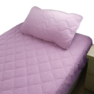 bedtime story 舒適繽紛彩虹保潔墊-薰衣紫-雙人5尺平單式
