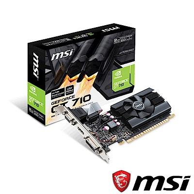 MSI微星 GT 710 2GD5 LP 顯示卡
