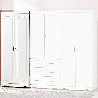 H&D 托尼烤白色2.7尺衣櫃 (寬80.5X深56.5X高197cm)