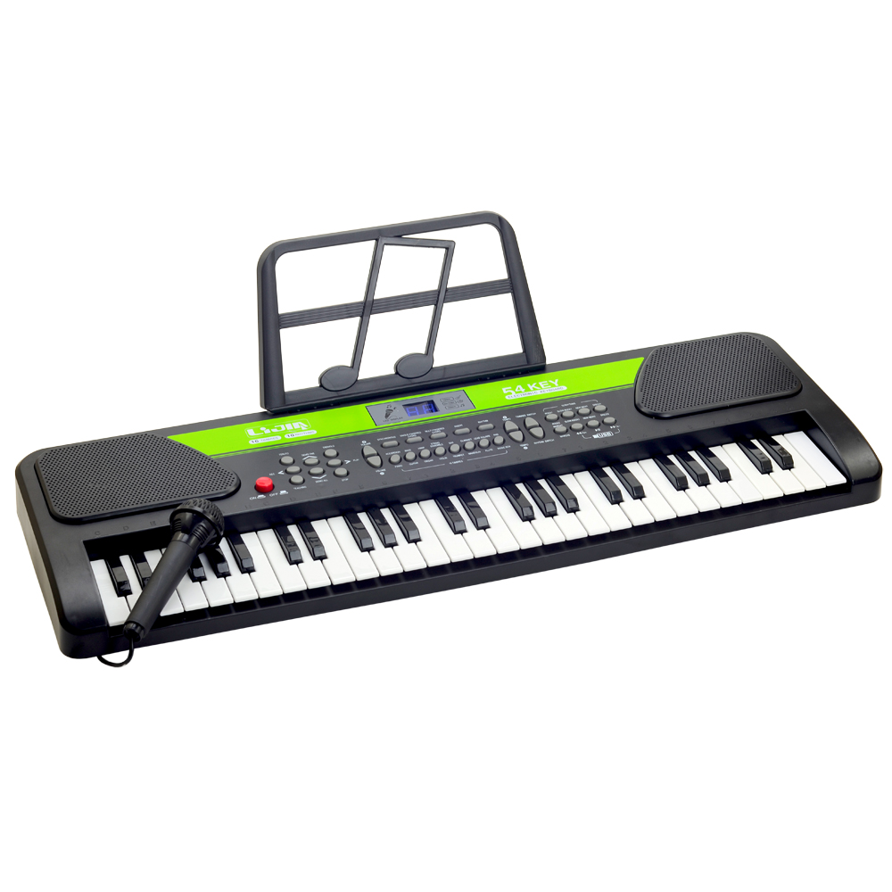 《Electronic Keyboard》54鍵內建錄音可連接MP3電子琴 附譜架及麥克風 product image 1