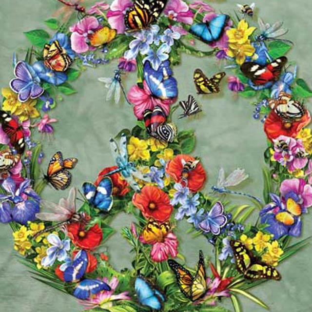 摩達客 美國進口The Mountain 蝴蝶和平 純棉環保短袖T恤