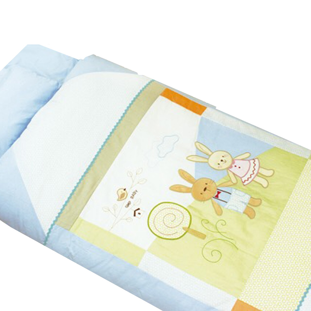 GMPBABY 童話兔抗蹣菌棉冬夏兩用幼童睡袋組~藍色1組