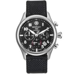 BENTLEY 賓利 AVIATOR系列 遨翔菁英計時手錶-黑/43mm