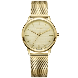 JULIUS聚利時 無限星空米蘭錶帶腕錶-金色/32mm