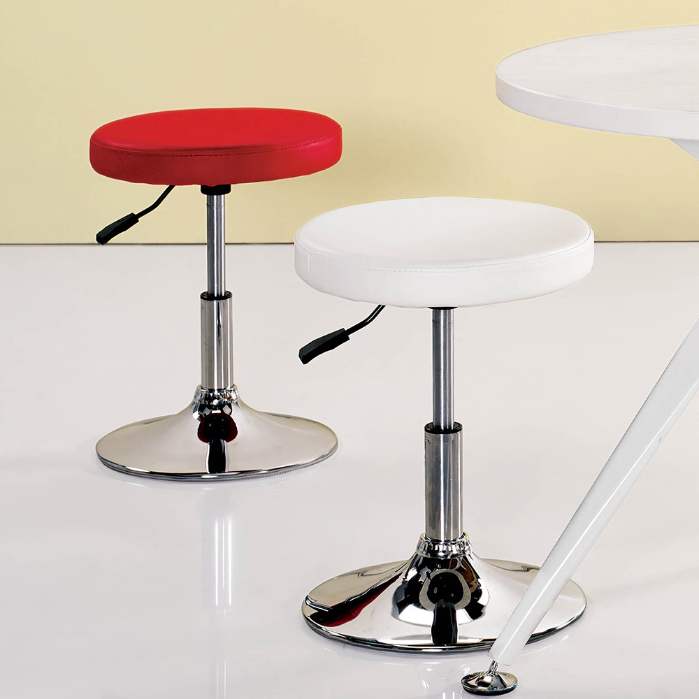 H&D 皮面氣壓吧台椅 (寬39X深39X高37~52cm)