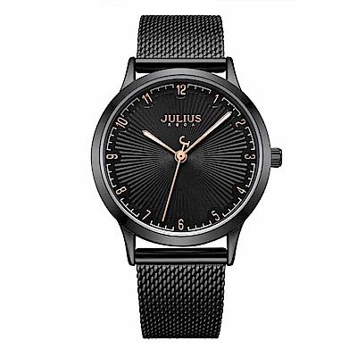 JULIUS聚利時 刻劃旅程米蘭錶帶腕錶-沉穩黑/32mm