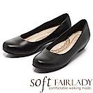 Fair Lady New超級上班者聯盟6號 優雅輕盈圓頭低跟鞋 黑