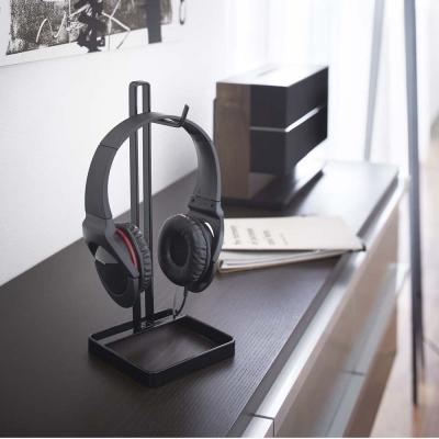 【YAMAZAKI】桌上型耳機掛架-黑★耳機架/包包架/香蕉掛架/耳機收納