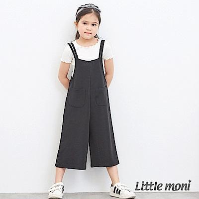 Little moni 吊帶連身褲 黑色