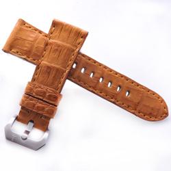 TED SU 太和錶帶 午後陽光Panerai 沛納海代用帶金色鱷魚金色線-26*22mm