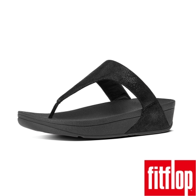FitFlop TM-SHIMMY TM SUEDE TOE-THONG-亮黑