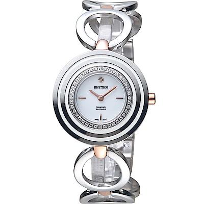日本麗聲錶RHYTHM縷空輕巧手環錶(L1302S04)-34mm