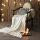 MONTAGUT-針織毛線毯(白)