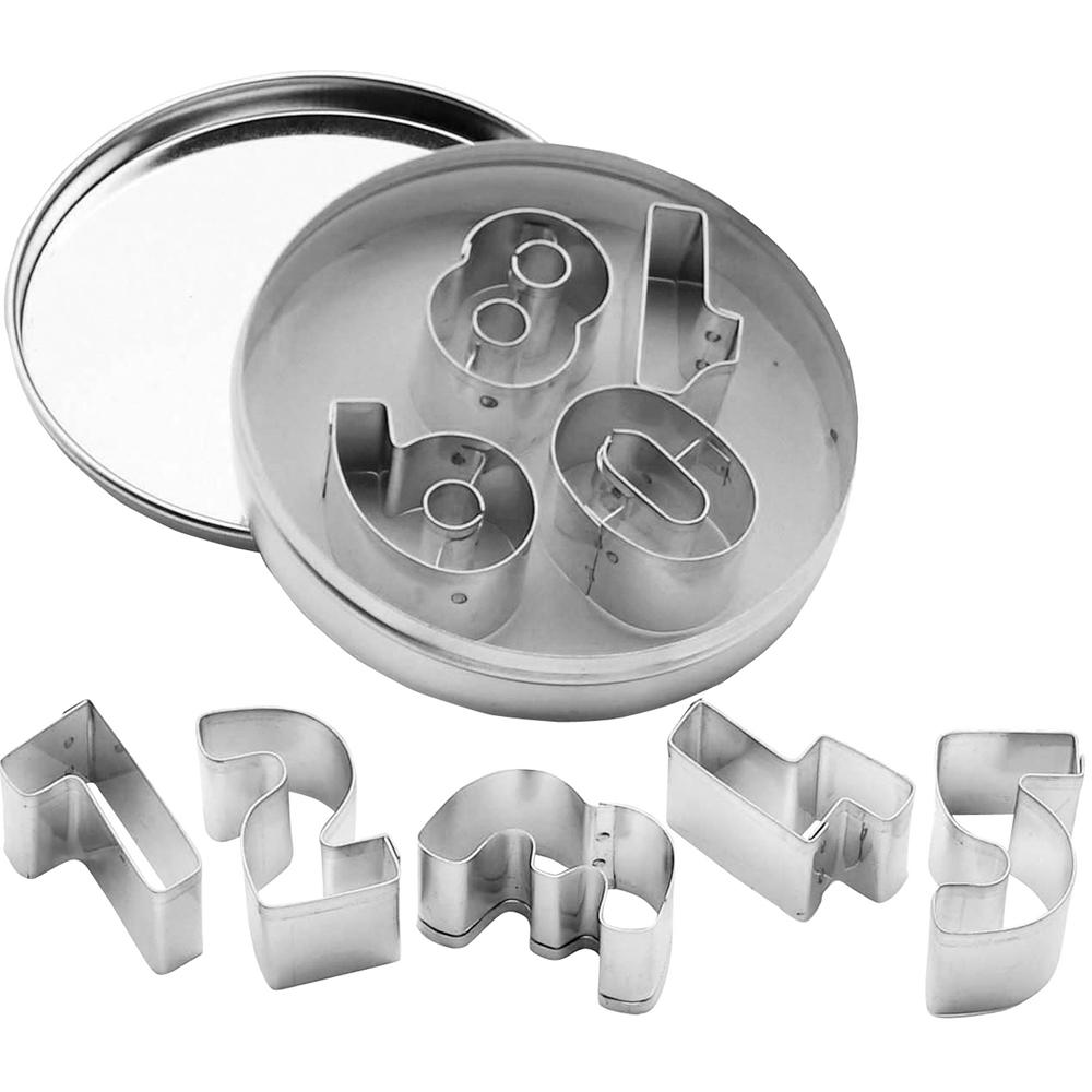 KitchenCraft 錫罐餅乾切模9件(數字)