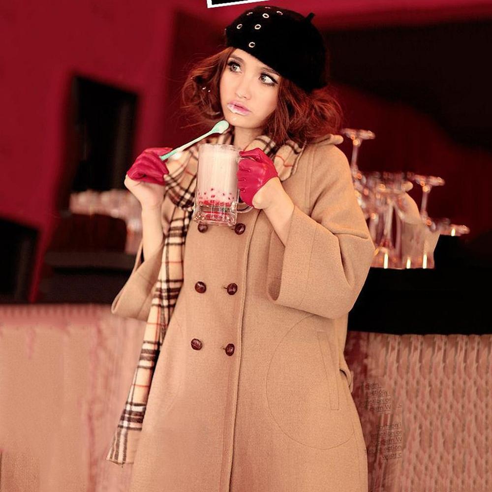【Love20首爾館】現貨 入秋必備雙排扣氣質大衣(駝色)
